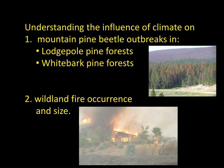 Understanding the influence of climate on