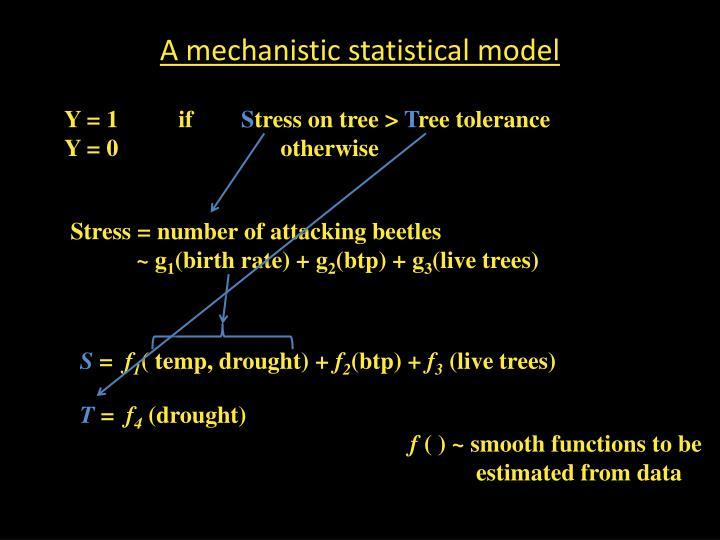 A mechanistic statistical model