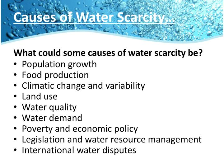 Causes of Water