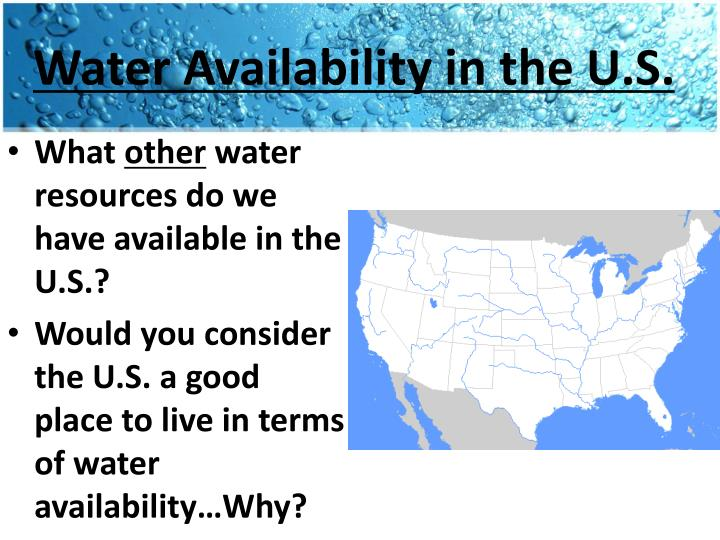 Water Availability in the U.S.