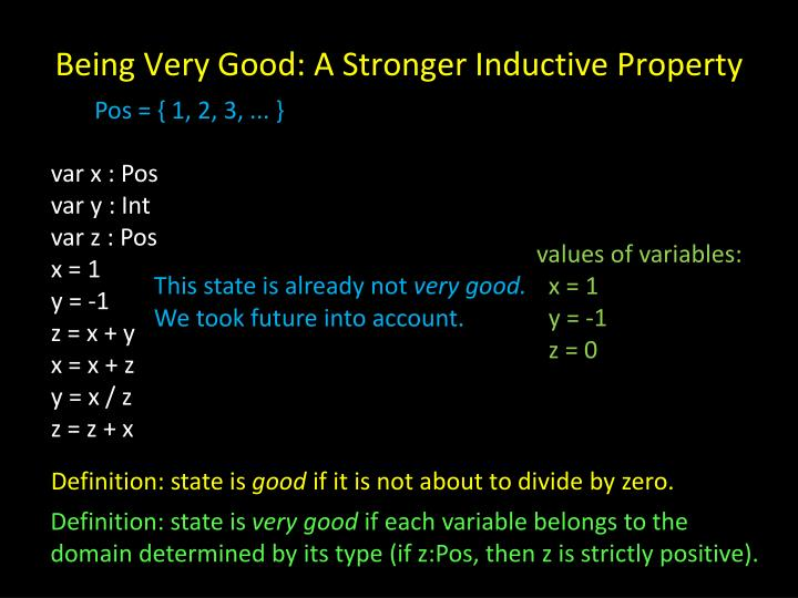 Being Very Good: A Stronger Inductive Property