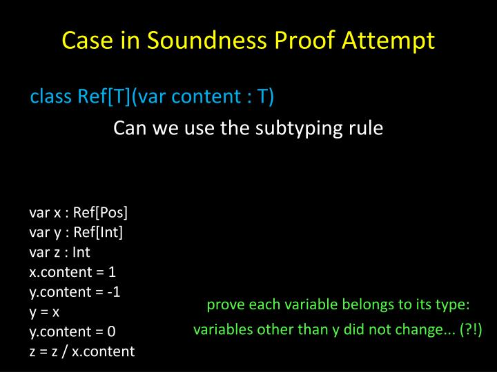 Case in Soundness Proof Attempt