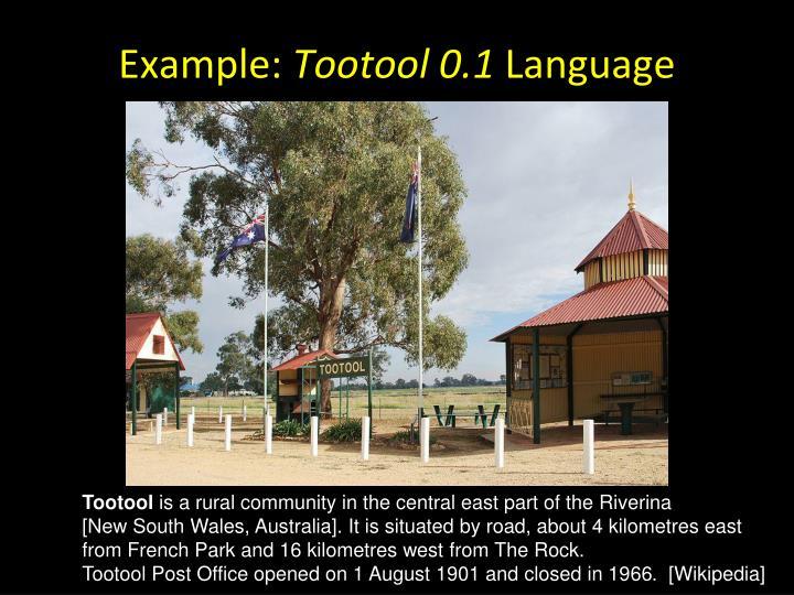 Tootool rest area