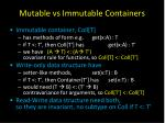mutable vs immutable containers