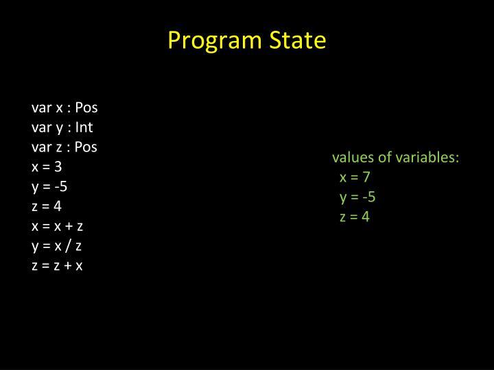 Program State