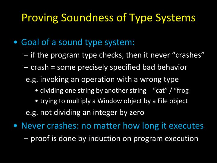 Proving Soundness of Type Systems