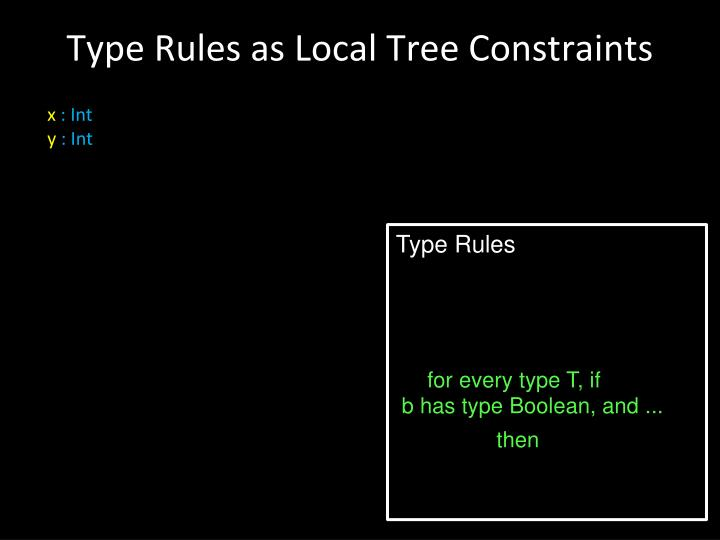 Type Rules as Local Tree Constraints