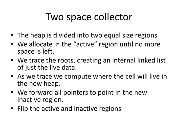 Two space collector