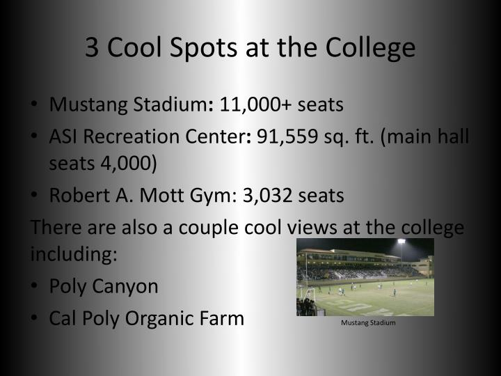 3 Cool Spots at the College