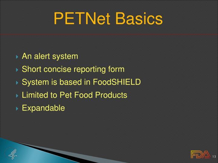 PETNet Basics
