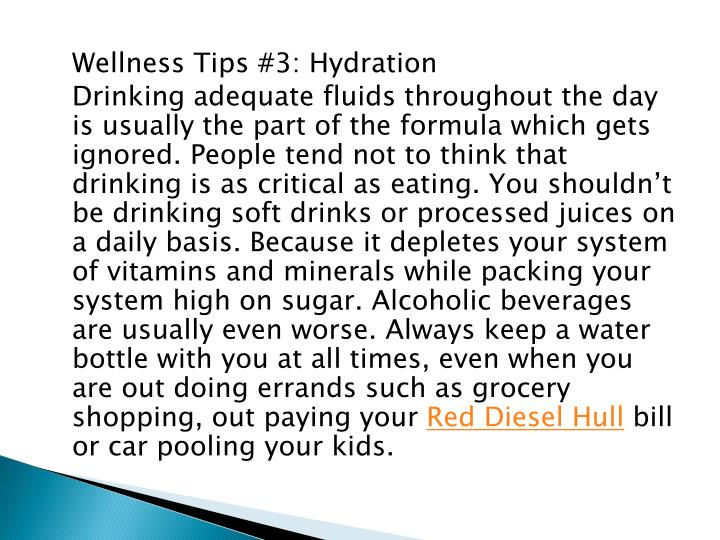 Wellness Tips #3: Hydration
