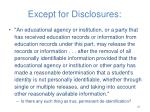 except for disclosures6