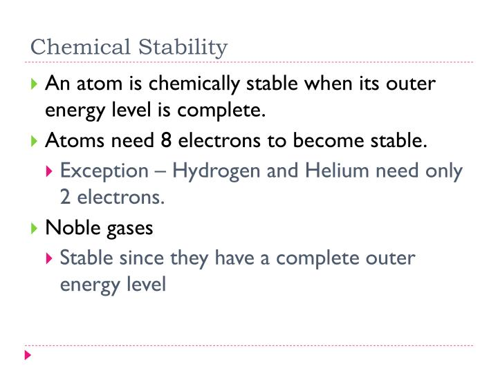 Chemical Stability