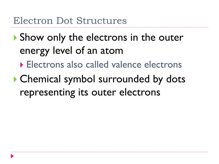 Electron Dot Structures