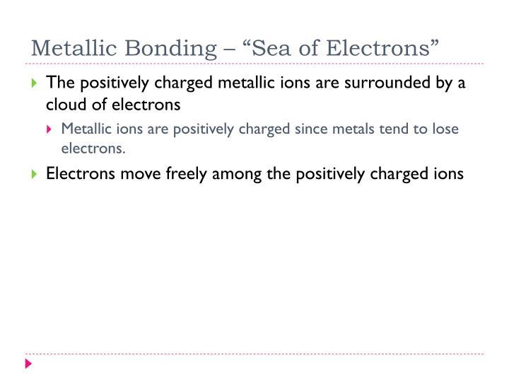 "Metallic Bonding – ""Sea of Electrons"""