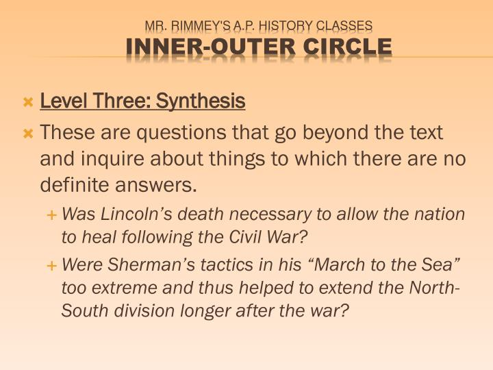 Level Three: Synthesis