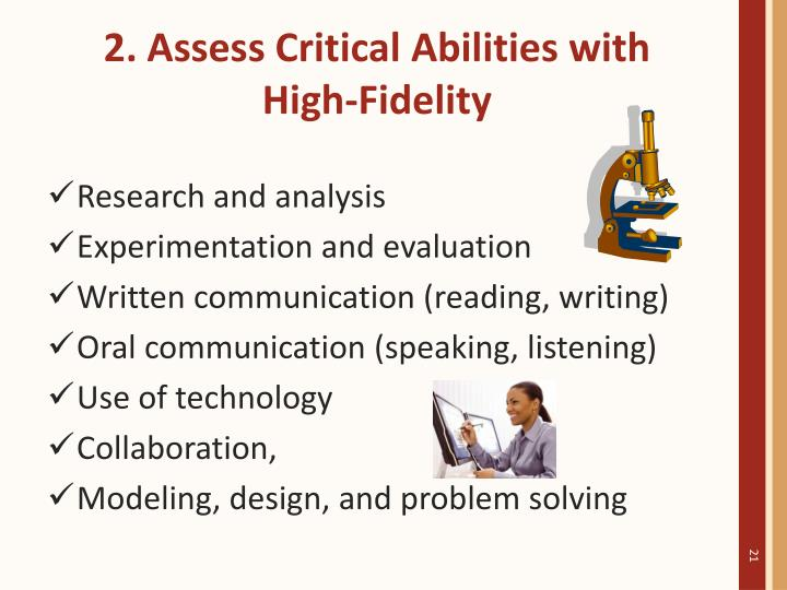 2. Assess Critical Abilities with