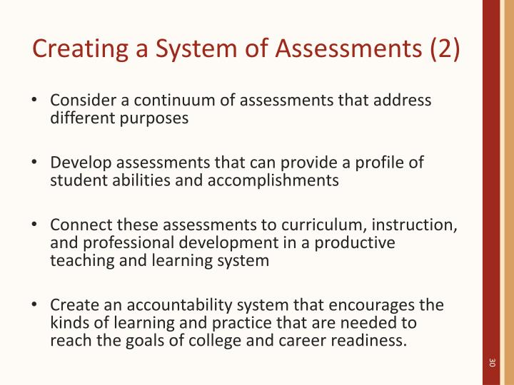Creating a System of Assessments (2)