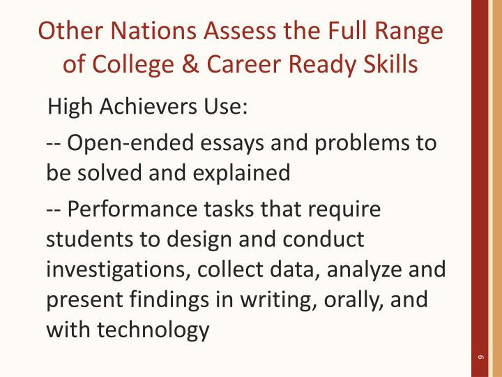 Other Nations Assess the Full Range of College & Career Ready Skills