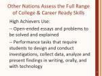 other nations assess the full range of college career ready skills