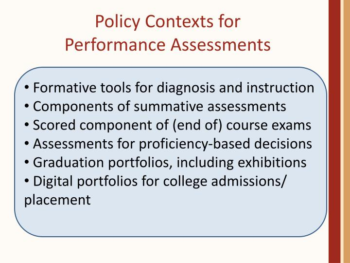 Policy Contexts for