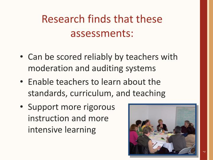 Research finds that these assessments: