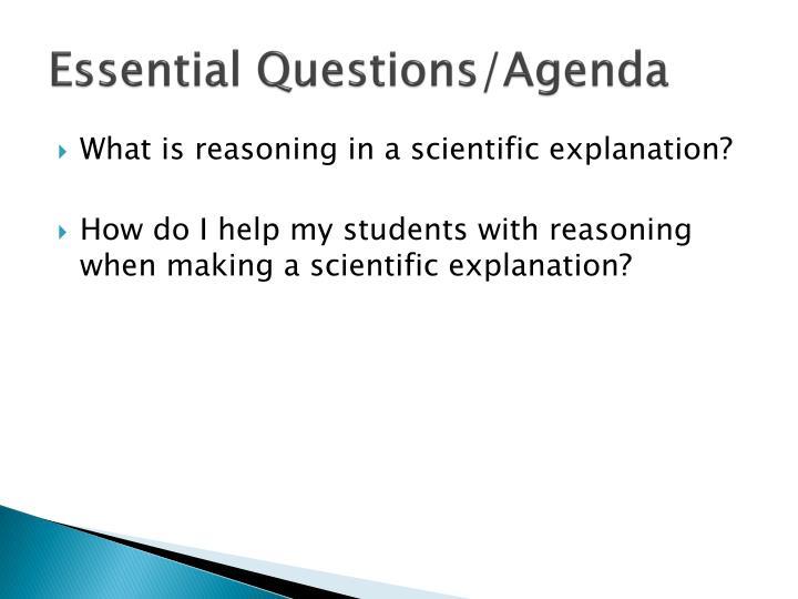 Essential Questions/Agenda