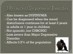 3 persistent depressive disorder