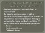 6 depressive disorder due to another medical condition