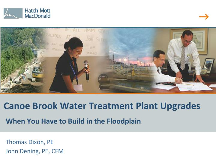 Canoe brook water treatment plant upgrades