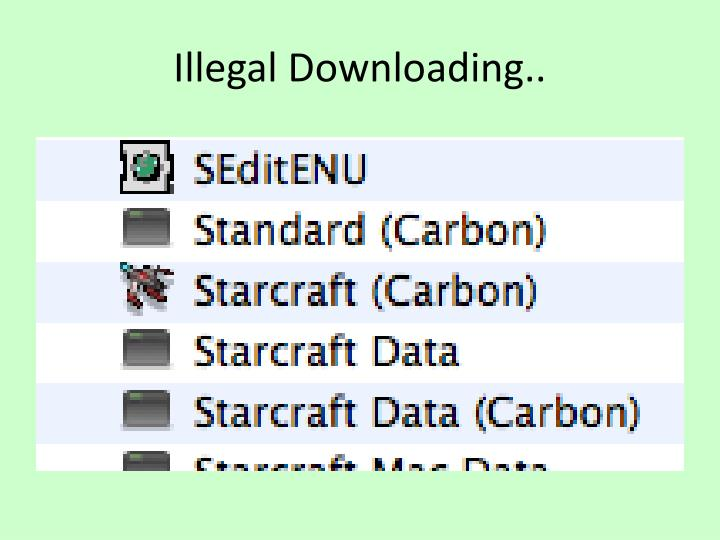 Illegal Downloading..