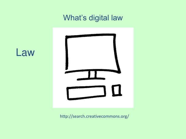 What's digital law