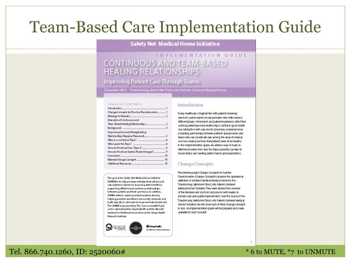 Team-Based Care Implementation Guide