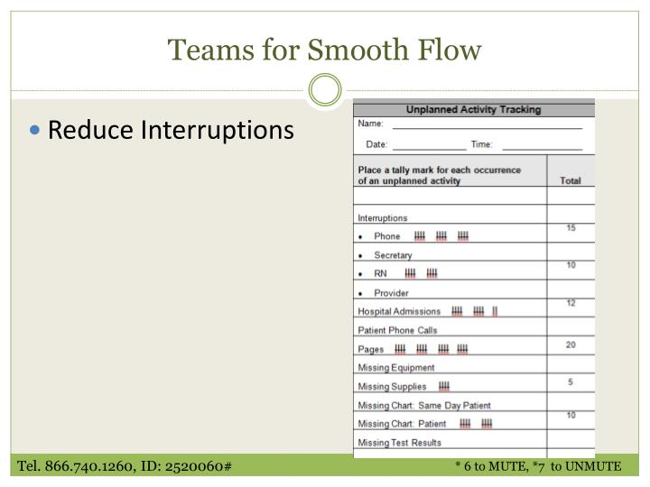 Teams for Smooth Flow