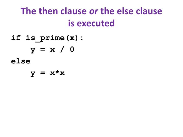 The then clause