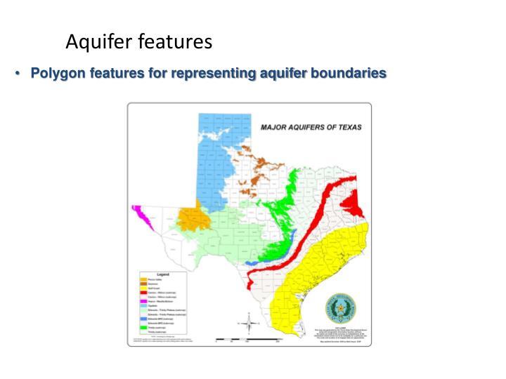 Aquifer features