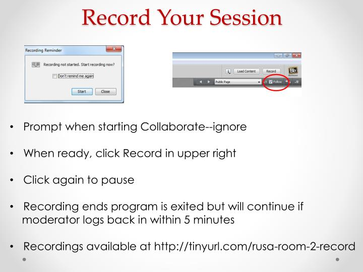 Record Your Session