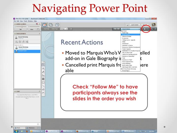 Navigating Power Point