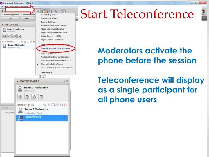 Start Teleconference