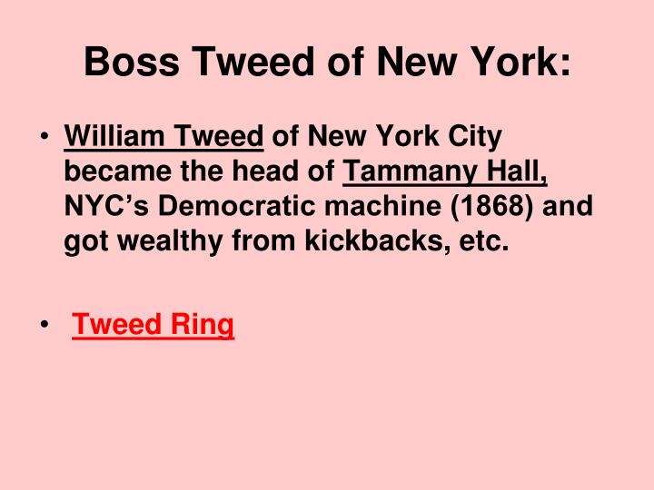 Boss Tweed of New York: