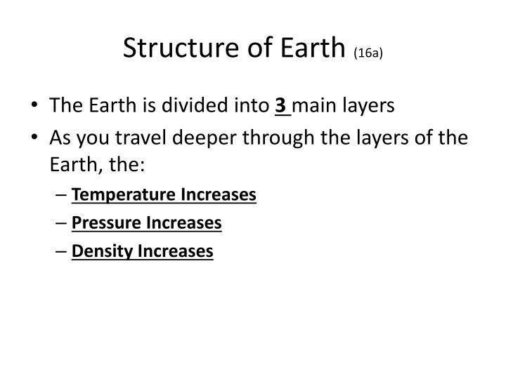 Structure of earth 16a
