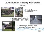 cso reduction leading with green what