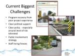 current biggest challenges