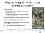 why including gsi in the urban drainage strategy