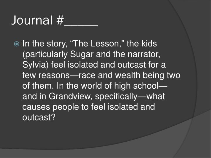 Journal #_____