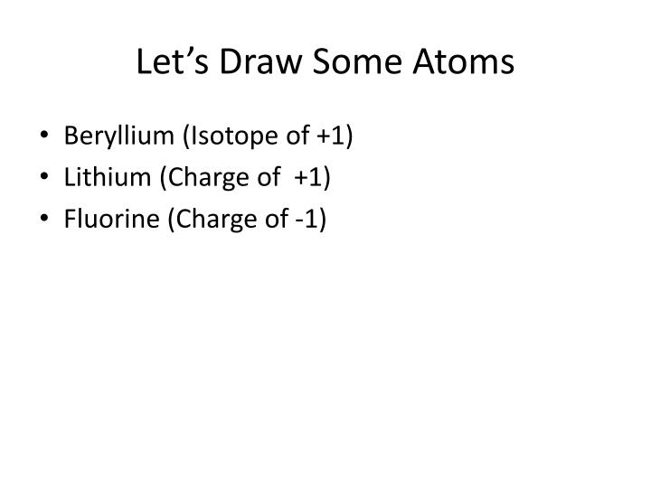 Let's Draw Some Atoms