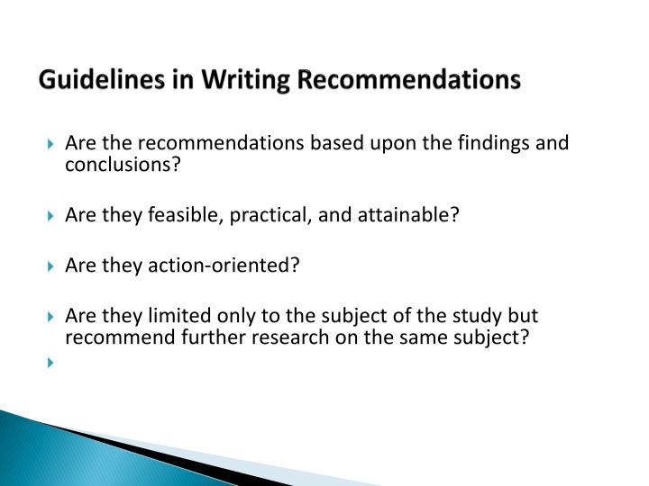 conclusion and recommendation thesis