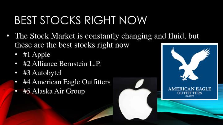 Best stocks Right now