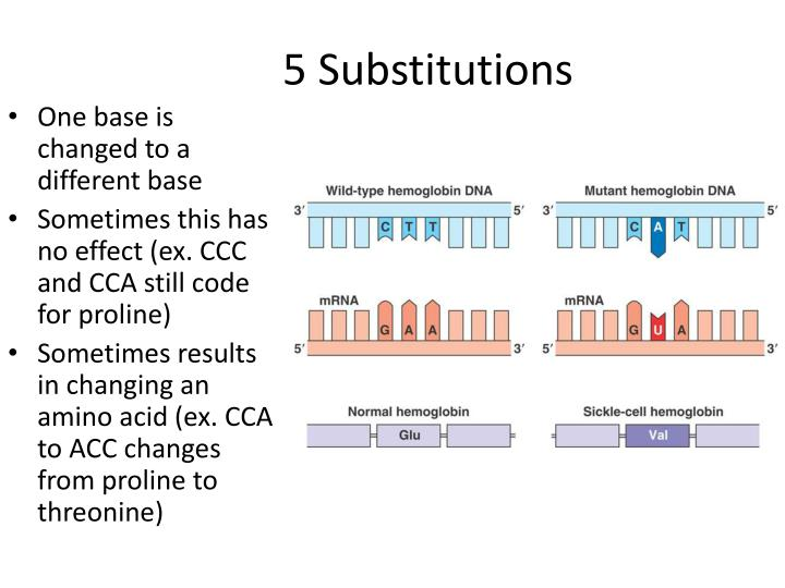 5 Substitutions
