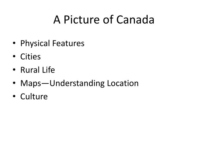 A picture of canada